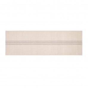 Linen Blend Stripe Table Runner - Natural/Grey