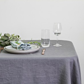 100% Linen Table Cloth 150 X 260CM Dark Grey