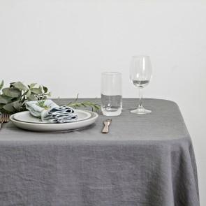 100% Linen Hemmed Table Runner 40 X 150CM Grey - Each