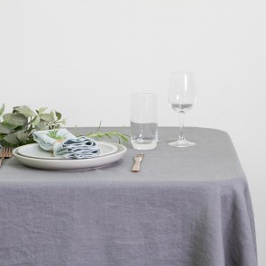 100% Linen Hemmed Table Runner 40 X 150CM Grey - Each