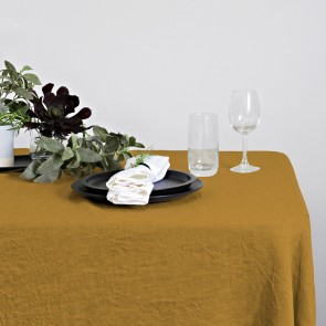 100% Linen Hemmed Table Runner 40 X 150CM Oak - Each
