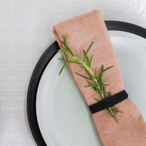 100% Linen Mellow Rose Napkins - 4 Pack