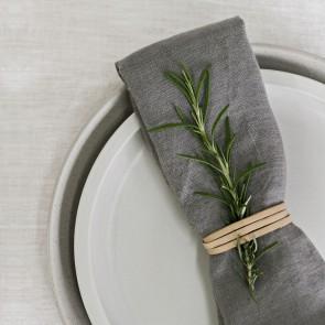 100% Linen Napkin Grey - 4 Pack