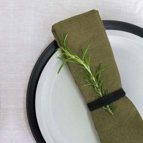100% Linen Napkin Olive - 16 Pack
