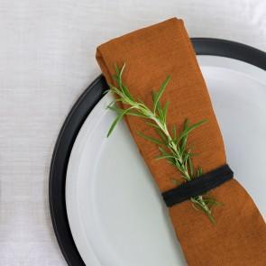 100% Linen Napkin Rust - 4 Pack