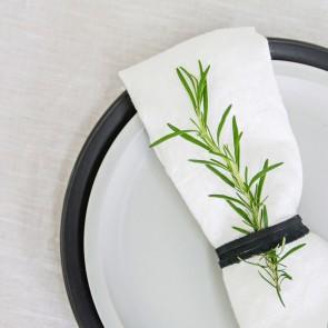 100% Linen Napkin Off White - 4 Pack