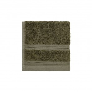 Bamboo Face Washer Olive Green - 3 Pack