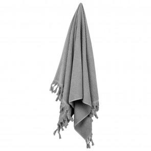 Turkish Cotton Tassel Towel Bath Towel - Grey