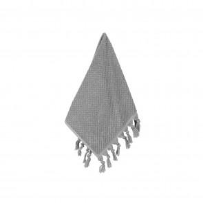 Turkish Cotton Tassel Face Washer Grey - 3 Pack