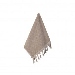 Turkish Cotton Tassel Face Washer Natural - 3 Pack
