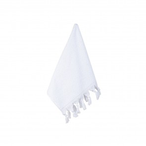 Turkish Cotton Tassel Face Washer White - 3 Pack