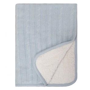 Sherpa Baby Blanket Blue