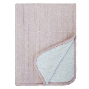 Sherpa Baby Blanket Pink