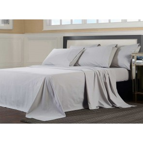 Flannelette Sheet Set - Light Grey
