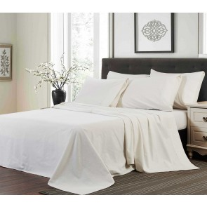 Flannelette Sheet Set - White