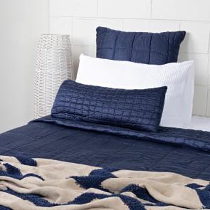 Cassius Quilted Bedspread - Indigo