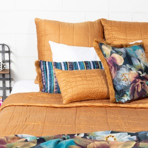 Cassius Quilted Bedspread - Ochre