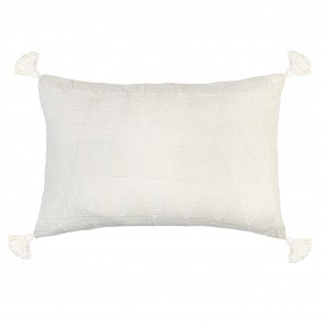 Zion Pillowsham with Tassels Cream - Each