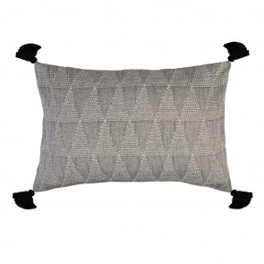 Zion Pillowsham with Tassels Asphalt Grey - Each