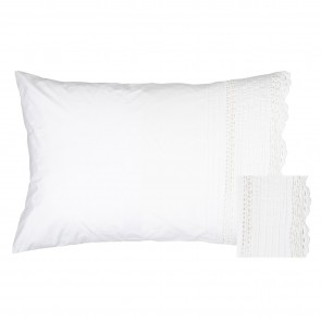 Classic Crochet Cotton Pillowcase Pair