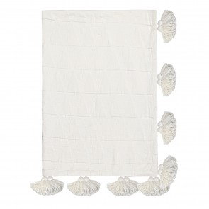 Zion Tassel Throw - Cream