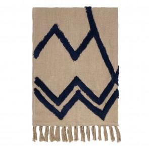 Acadia 100% Linen Throw - Indigo