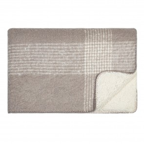 Soft Sherpa Throw Grey/Cream