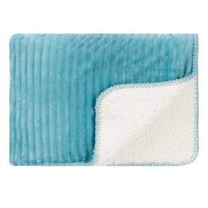 Cord Sherpa Stitch Throw Nile Blue