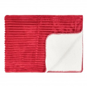 Cord Sherpa Stitch Throw Chilli Pepper Red