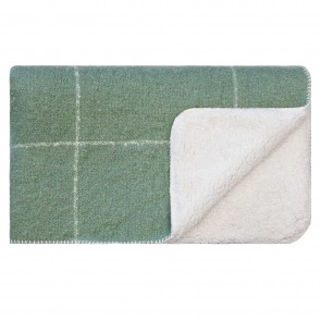 Grid Sherpa Throw Loden Forest