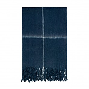 Bliss Grid Throw Bumble Navy/White