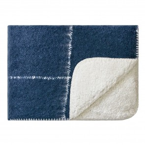 Sherpa Knee Rug Midnight Blue