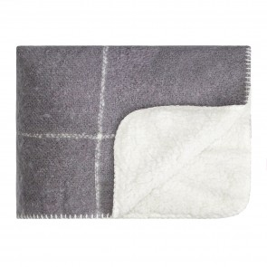 Sherpa Knee Rug Frost Grey