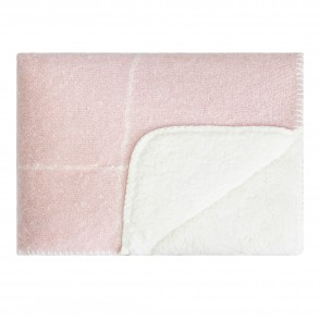 Sherpa Knee Rug Rose Smoke
