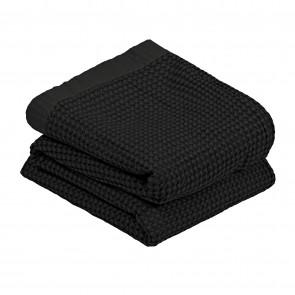 L&M Cotton Waffle Blanket Black