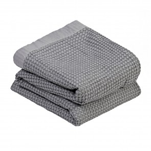100% Cotton Waffle Blanket - Charcoal Grey