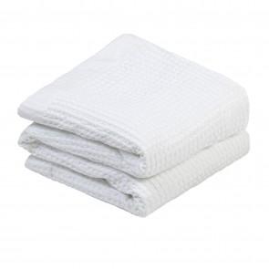 100% Cotton Waffle Blanket - White