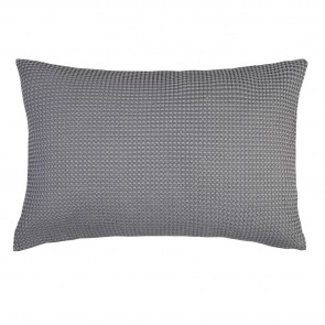 100% Cotton Waffle Pillowshams Pair - Charcoal Grey