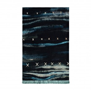 Velvet Cross Throw with Fringe