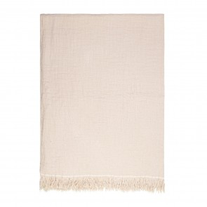 Lindis Throw by Linens & More - Oatmeal