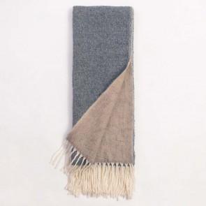 Logan Tassel Throw - Grey