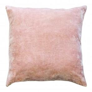 Velvet/Linen Square Cushion Rose Smoke