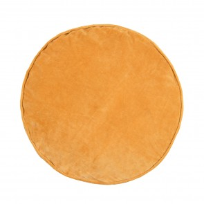 Velvet/Cotton Round Cushion - Chai Tea