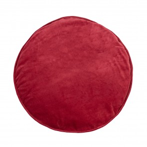 Velvet/Cotton Round Cushion - Chilli Pepper