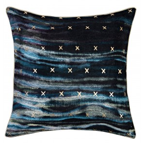 Velvet Cross Piped Cushion