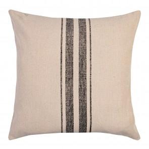 Charcoal Stripe Square Cushion - 2 Pack