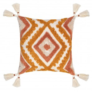 Nomad Double Diamond Tassel Cushion
