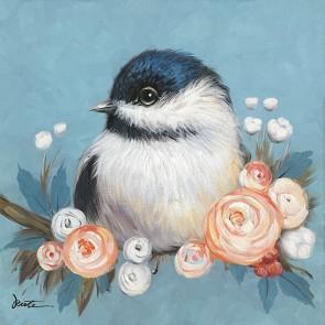 Flower Bird Canvas Art