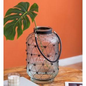 Glass Wire Lantern Vase