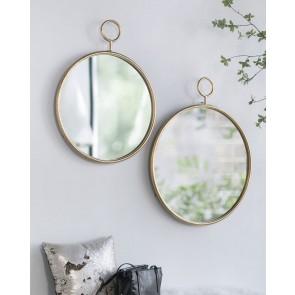 Gold Framed Round Wall Mirror